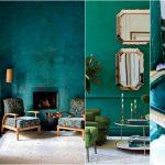 Сочетание зеленого и синего: колористика, мода, интерьер