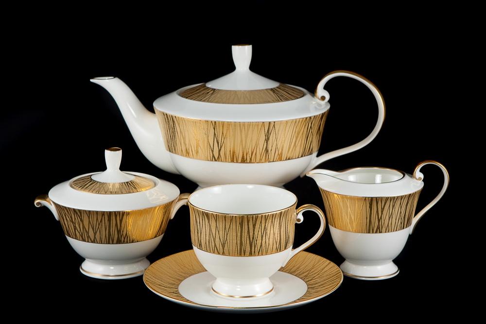 Китайский чайный сервиз. Фарфор, золото.