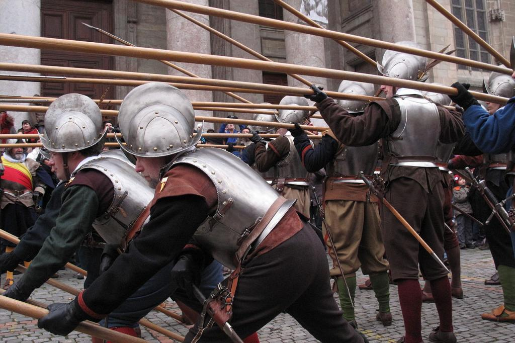 Швейцарские наемники в боевом построении