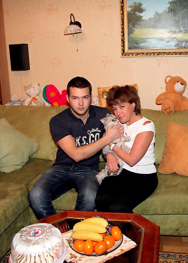 Ирина Волкова с сыном Дмитрием