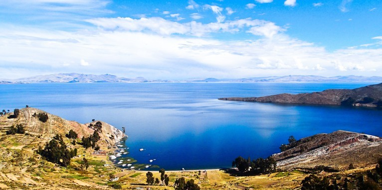 Панорама озера Титикака