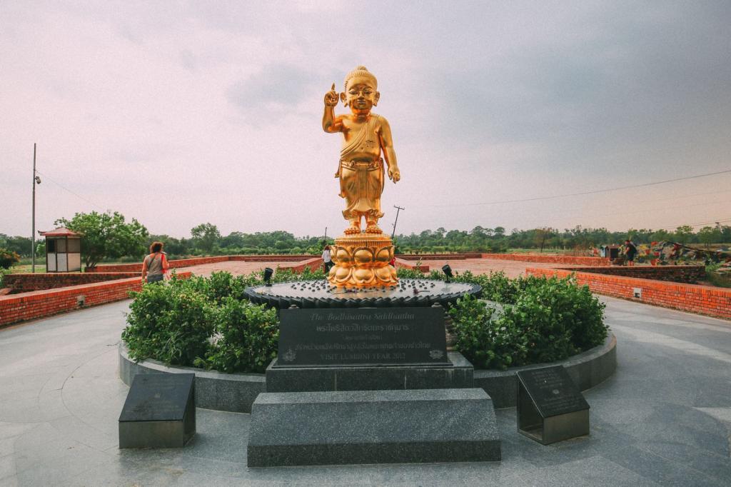 месте рождения Будды