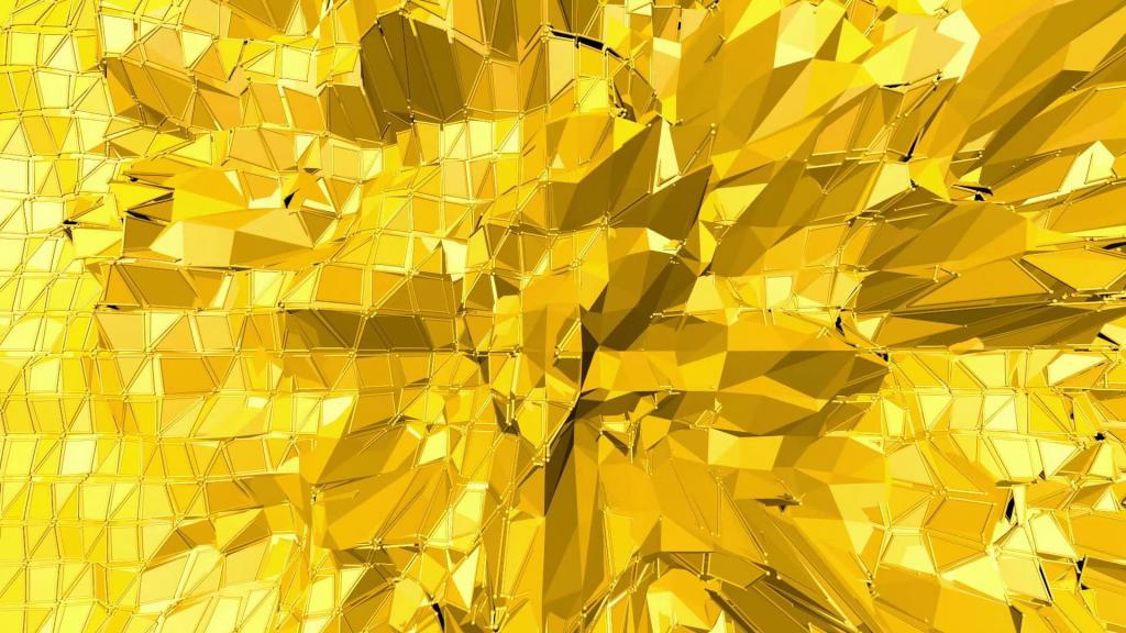 Мозаика желтого цвета