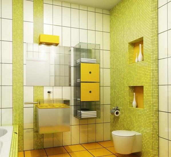 Желто-зеленая мозаика