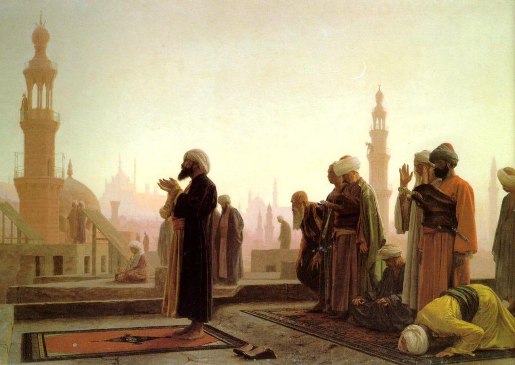 Мужчины на утренней молитве