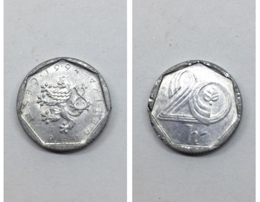 монета 20 геллеров