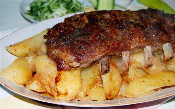 картошка с ребрами