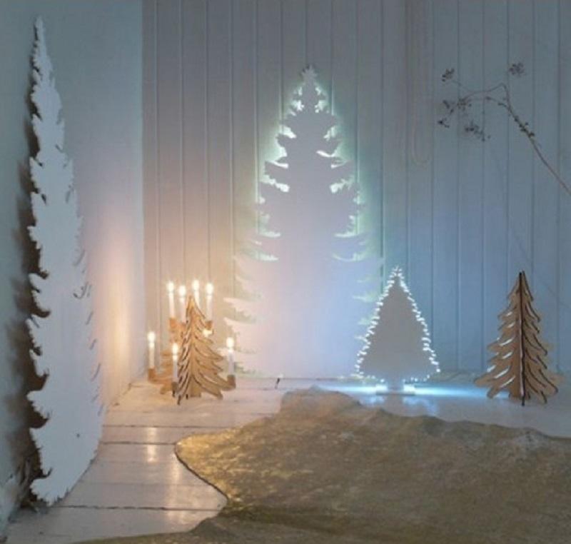 новогодние елки из пенопласта с подсветкой