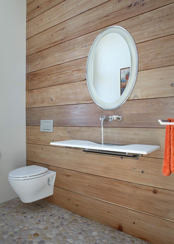 ламинат в отделке туалета