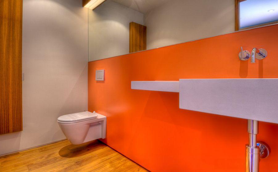 оформление стен туалета краской