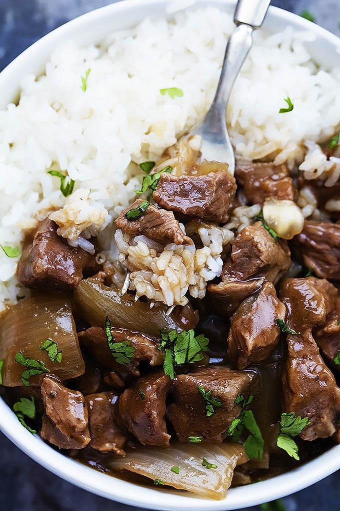как приготовить рис и свинину в мультиварке