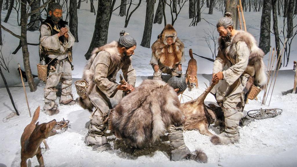 Охотники после охоты