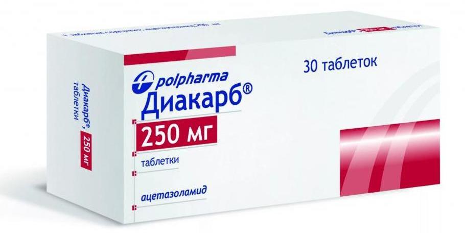 диакарб для мозгового кровообращения