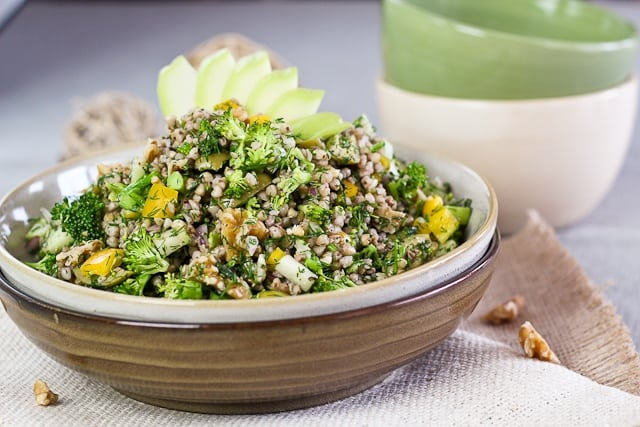Салат из гречки