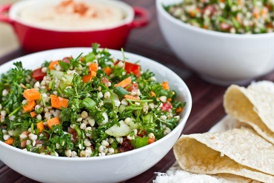 Салат с гречкой и овощами