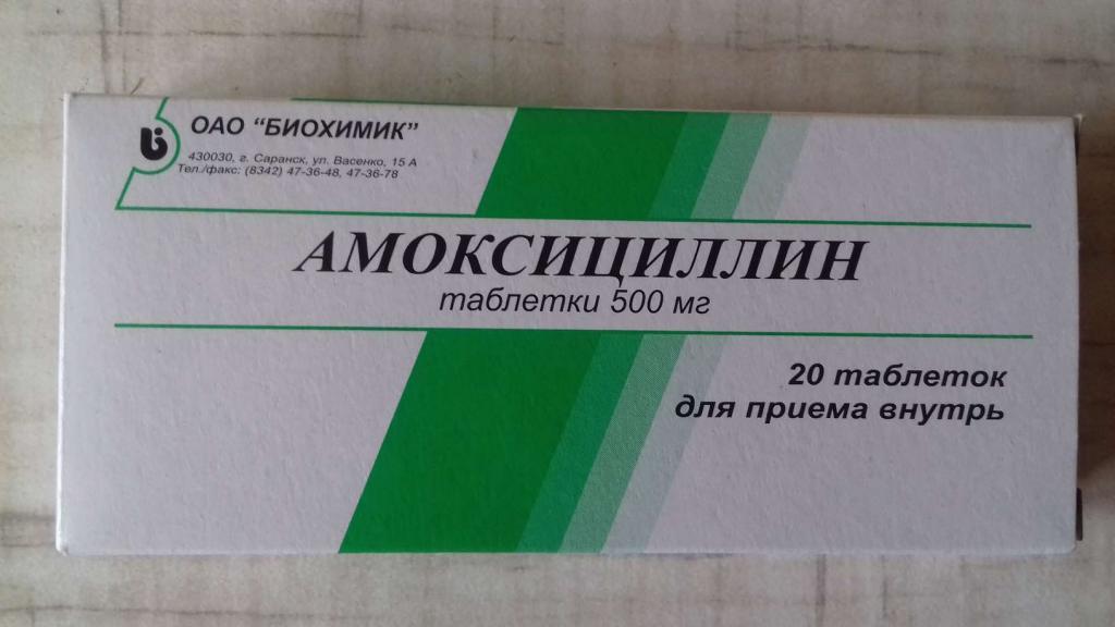 амоксициллин группа антибиотиков