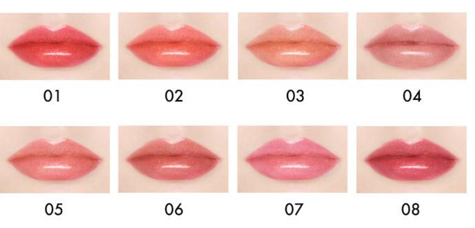 Оттенки блеска для губ