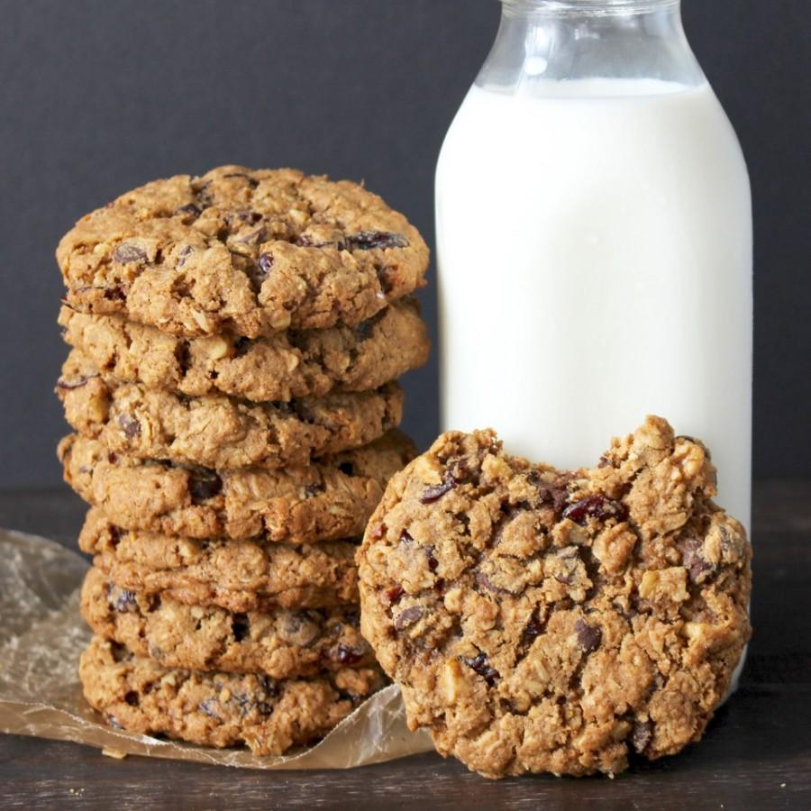печенье с клюквой и белым шоколадом рецепт