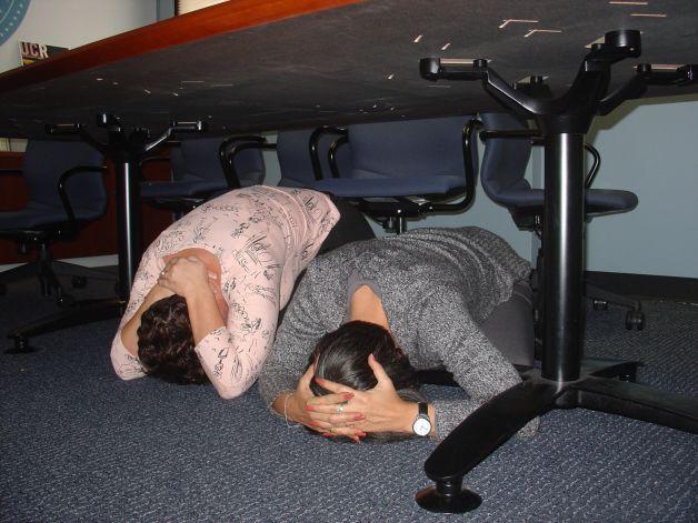 Действия во время землетрясения