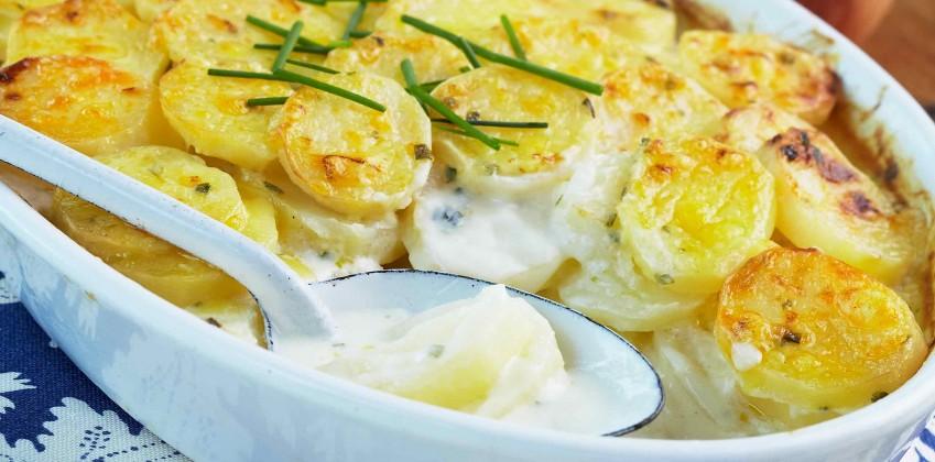 Картофель в сметане блюдо