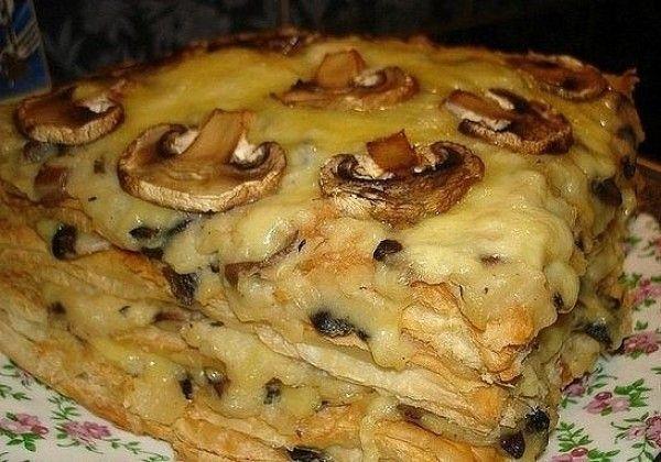 торт с грибами