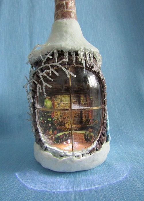 Зимняя бутылка
