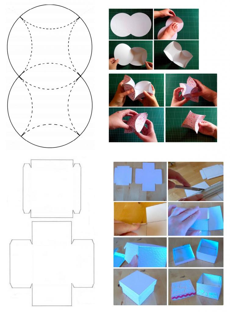 коробочка-квадрат