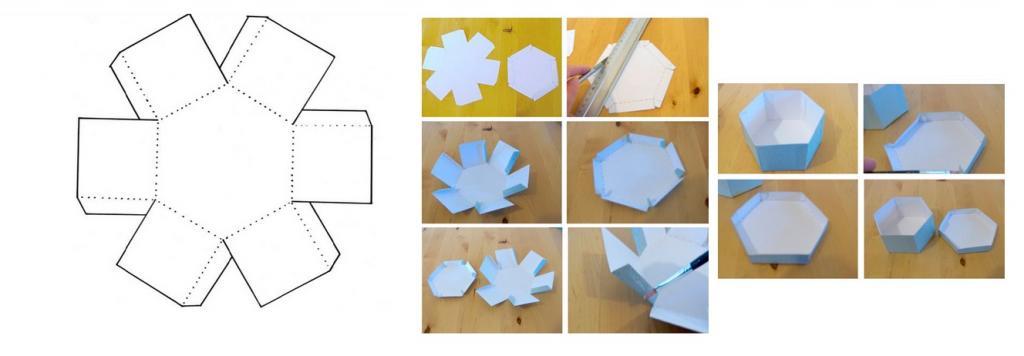 коробочка из шестигранника
