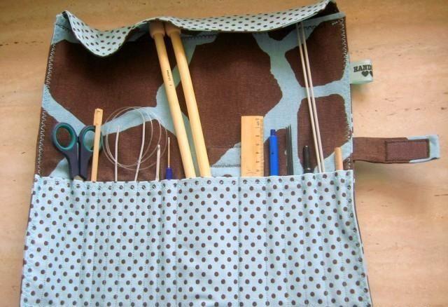 Органайзер для спиц и крючков своими руками