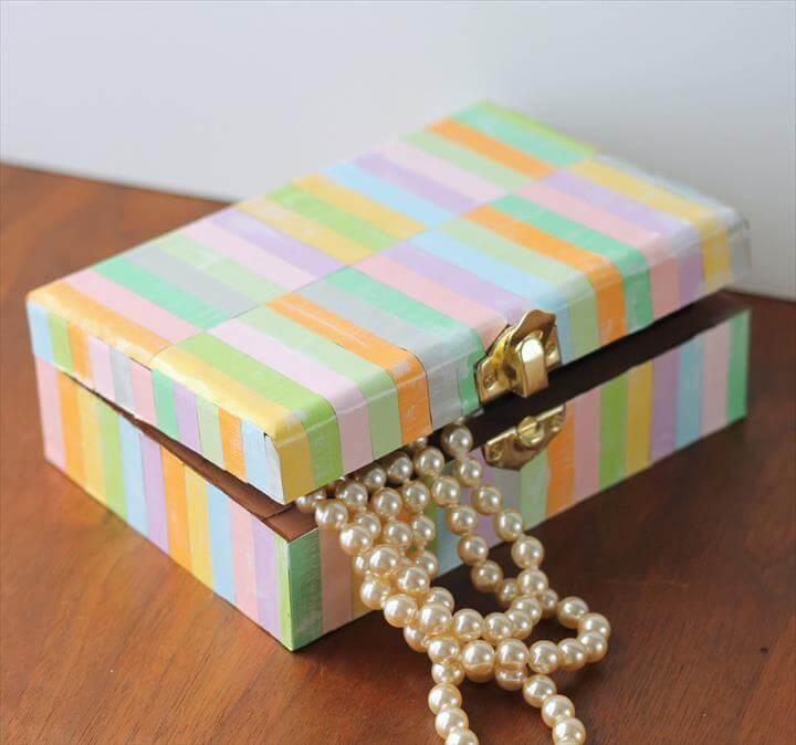 коробочка для украшений своими руками