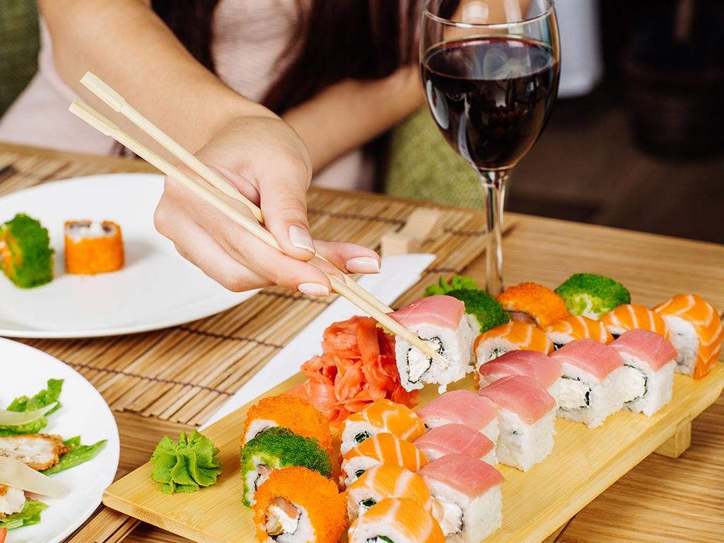 суши и вино