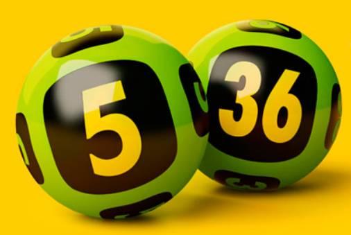 шары лотереи с номерами 5 и 36