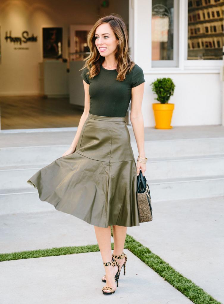 модели кожаных юбок для полных