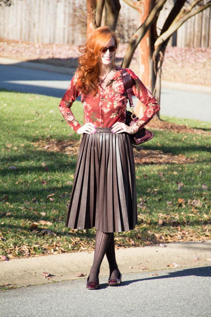 модели кожаных длинных юбок